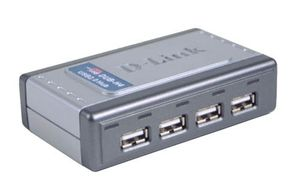 HUB DUB-H4 4PORT USB 2.0 480MBPS WORKS W USB 1.1 - Retail