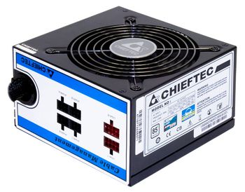 CHIEFTEC 650W PSU A-80 Series ATX-12V V.2.3/ EPS-12V PS-2 12cm Fan PFC Cable Management >80% efficiency (CTG-650C)