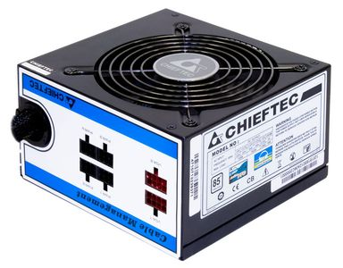 CHIEFTEC 550W PSU A-80 Series ATX-12V V.2.3/ EPS-12V PS-2 12cm Fan PFC Cable Management >80% efficiency (CTG-550C)