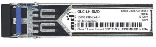 CISCO 1000BASE-LX/ LH SFP SMF 1310nm 10km (GLC-LH-SMD=)