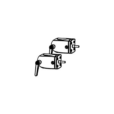 DS100 OUTBOARD POLE CLAMPS  IN
