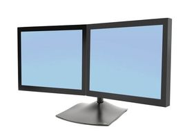 DOUBLE MONITOR HORZ STAND BLACK IN