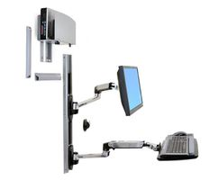 LX WALL MOUNT LCD & KEYBOARD + UNIVERSAL CPU HOLDER ALUMINIUM