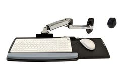 ERGOTRON EDU KEYBOARD ARM WITH 9  EXTN WALL MOUNT POLISHED ALUMINIUM