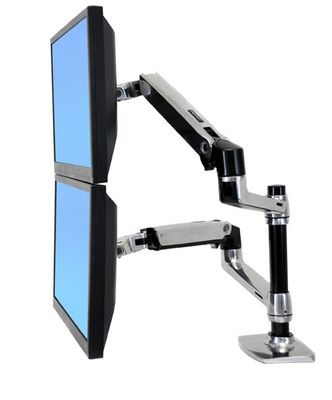 LX REDESIGN DUAL ARM POLE MOUNT 2 FLAT PANEL OR FP AND NOTEBOOK