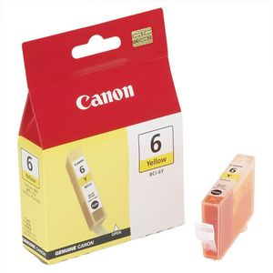 CANON BCI-6 Y INK BLISTER W/SEC YELLOW BJ INKTANK (4708A025)
