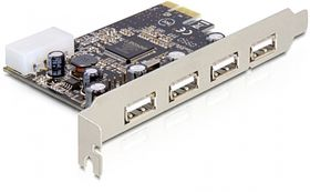 PCI Express Card > 4 x external USB 2.0 - U