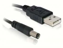 - Power cable - 4 pin USB Type A (M) - DC j