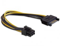 DELOCK - Power cable - 15 pin SATA power (M) - 6 p (82924)