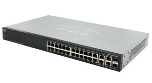 CISCO Switch/ 24Prt 10/100 Stack Managed w/Gbit (SF500-24-K9-G5)