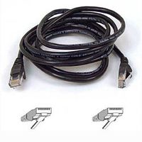 CAT 5 PATCH CABLE 1M MOULDED/ SNAGLESS BLACK NS