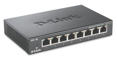 D-LINK Switch/ 8xF+ENet RJ45 ext PSU (DGS-108/E)