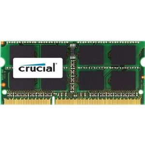 CRUCIAL 2GB DDR3-1333 CL9 SODIMM PC3-10600 204PIN 1.35V/ 1.5V MAC MEM (CT2G3S1339M)