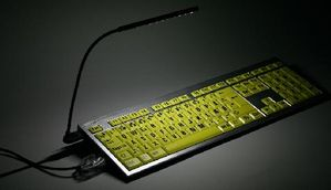 LOGICLIGHT BLACK USB KEYBOARD LIGHT