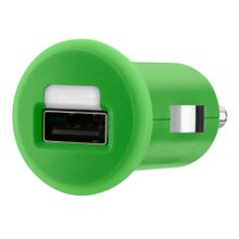 Micro car charger USB 1A GRN