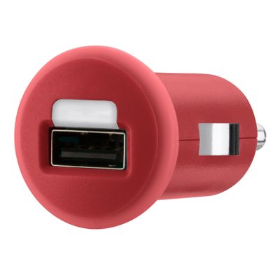 Micro car charger USB 1A RED