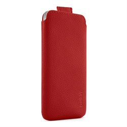Iphne 5 Smart Cover - Leather - red