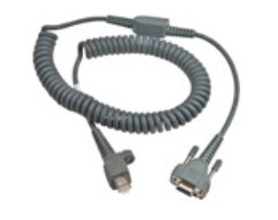 Cable RS232, 6,5ft, 9 pin, coiled, power on pin 9