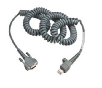 Cable RS232, 12ft, 9 pin, coiled, requires external power supply.