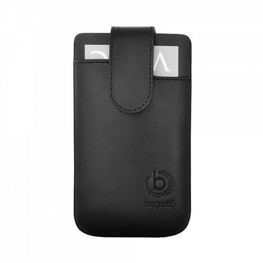 SLIMCASE LEATHERPREMIUM SIZE ML (IPHONE 5), BLACK ACCS