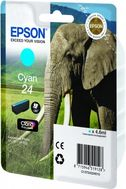 EPSON Ink Cart/24s Elephant Cyan RF+AM (C13T24224020)