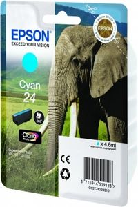 EPSON Ink Cart/24XL Elephant Cyan