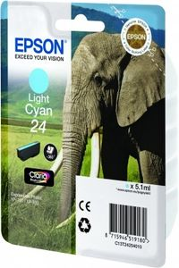 EPSON Ink Cart/24s Elephant Light Cyan RF+AM (C13T24254020)