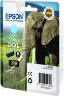 EPSON Ink Cart/24XL Elephant Light Cyan RF+AM (C13T24354020)