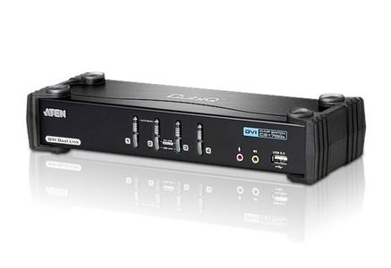 ATEN DVI  KVM switch  4:1  with 2.1 Audio (AT-CS1784A)