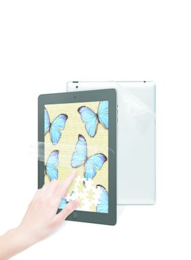 Natural View Fingerp. Fading Screen Prot. iPad Back Skin