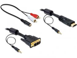 DELOCK DVI-Kabel DVI(18+1) +3,5mm st -> HDMI +3,5m (84457)