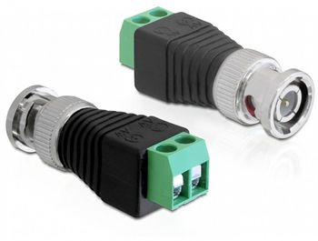 DELOCK Adapter Terminalblock 2pin -> BNC (65323)
