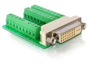 DELOCK Adapter Terminalblock 27pin -> DVI(24+1) Bu (65169)