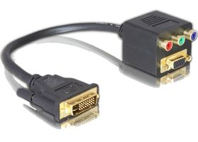 DVI Adapter DVI(24+5) -> D-Sub15 + 3x Cinch