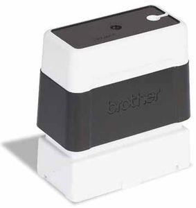 BROTHER Pack 6 black self-inking stamps 12x12mm (PR1212B6P)