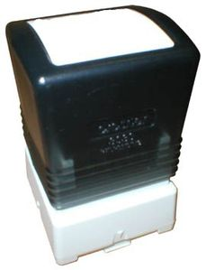BROTHER Pack 6 black self-inking stamps 20x20mm (PR2020B6P)