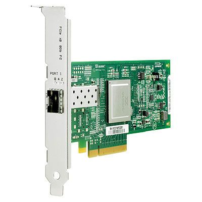 PCI Express 1-ports 8 Gb Fibre Channel SR-adapter (QLogic)