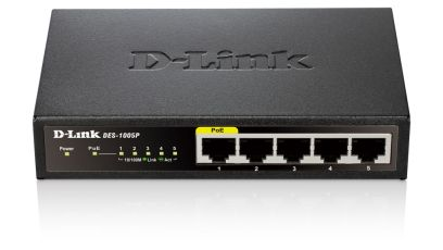 DES-1005P 5PORT UNMANAGED 10/100 1PORT POE STANDALONE