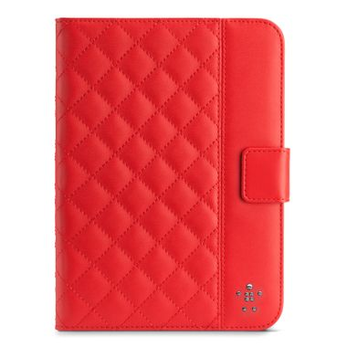 Quilted Cover w Stand iPad Mini Ruby