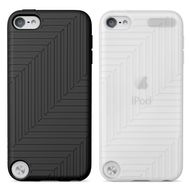 IPOD TOUCH 5G FLEX CASE SILICON BLACK/ CLEAR 2PACK ACCS