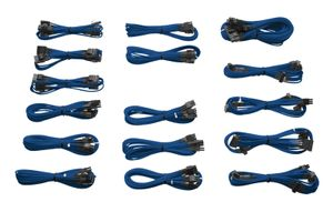 INDIVIDUALLY SLEEVED MODULAR CABLES, BLUE, AX1200