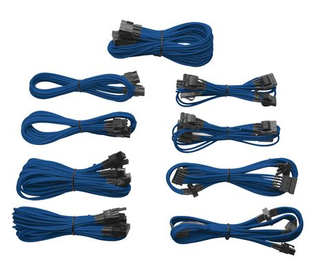 INDIVIDUALLY SLEEVED MODULAR CABLES, BLUE, AX
