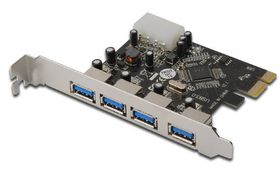 PCI Expr Card 4x USB3.0 Ports retail
