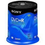 SONY DVD+R, 16X, SPINDLE 100 PCS . SUPL
