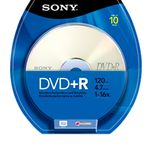 SONY DVD+R, 16X, SPINDLE 10 PCS . SUPL