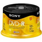 SONY DVD-R, 16X, SPINDLE 50 PCS . SUPL
