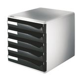 LEITZ Post-set 5 drawers A4 black