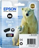 EPSON Ink Cart/ 26Ser Polar Bear Photo Blk RS