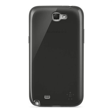 GALAXY NOTE 2 GRIP SHEER TPU BLACK TRANSPARENT ACCS