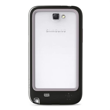 GALAXY NOTE 2 SURROUND CASE TPU CLEAR/ BLACK-GREY ACCS